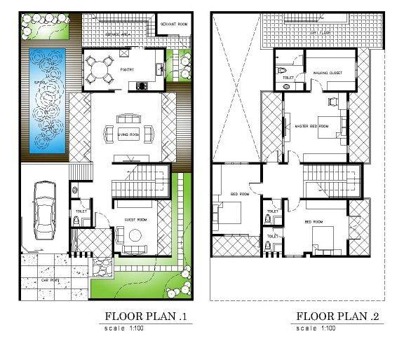 Floor Plan Denah Rumah Rumah Rumah Minimalis