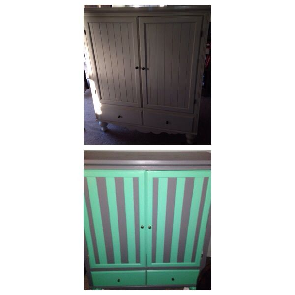 Painted the armoire for the baby's room. Getting excited!!
