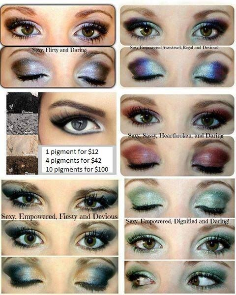 CHECK OUT OUR MINERAL EYE PIGMENTS, 100% natural, mineral-based pigment powders consisting of finely crushed minerals that bond to the skin offering long-lasting, sweat-proof coverage. High-quality pigments that do not contain talc or other unnecessary filler ingredients. Apply wet for a more dramatic impact of color, or apply dry for a blending of colors or for a softer look. .  https://www.youniqueproducts.com/kimberlyvenning/products