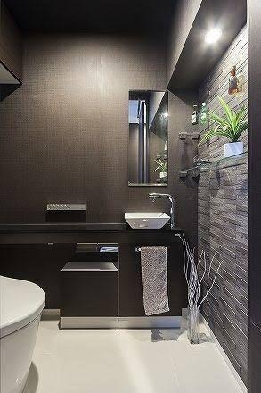 トイレ 壁紙 ダーク の画像検索結果 画像あり 家 トイレ