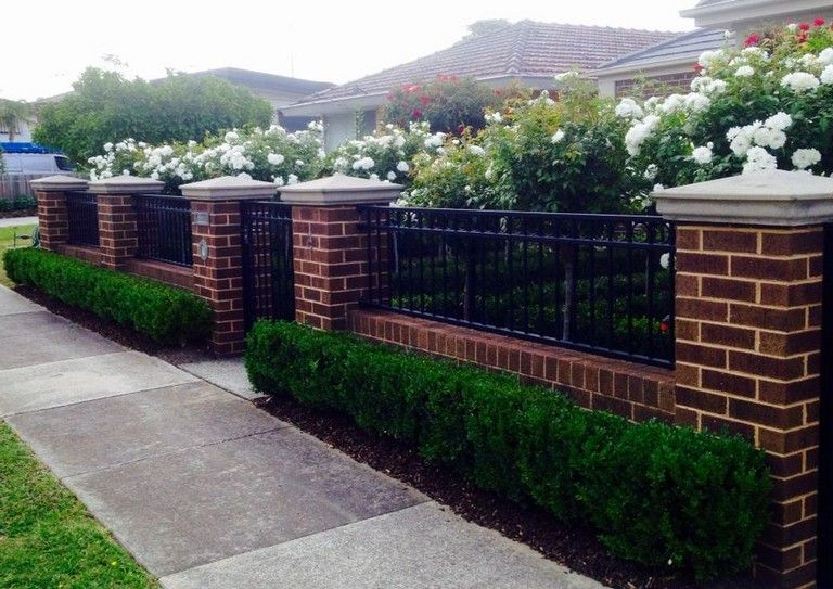 28 Good Front Fence Ideas For Your Home Brick Fence Fence