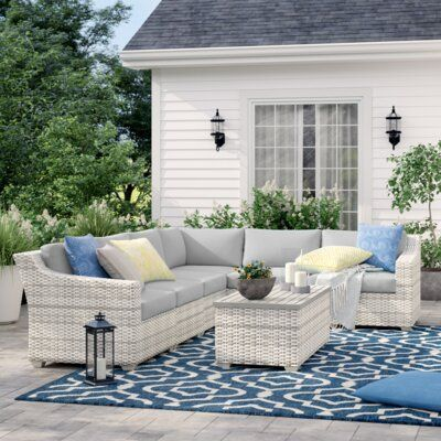 Sol 72 Outdoor Falmouth 7 Piece Rattan Sectional Seating ...