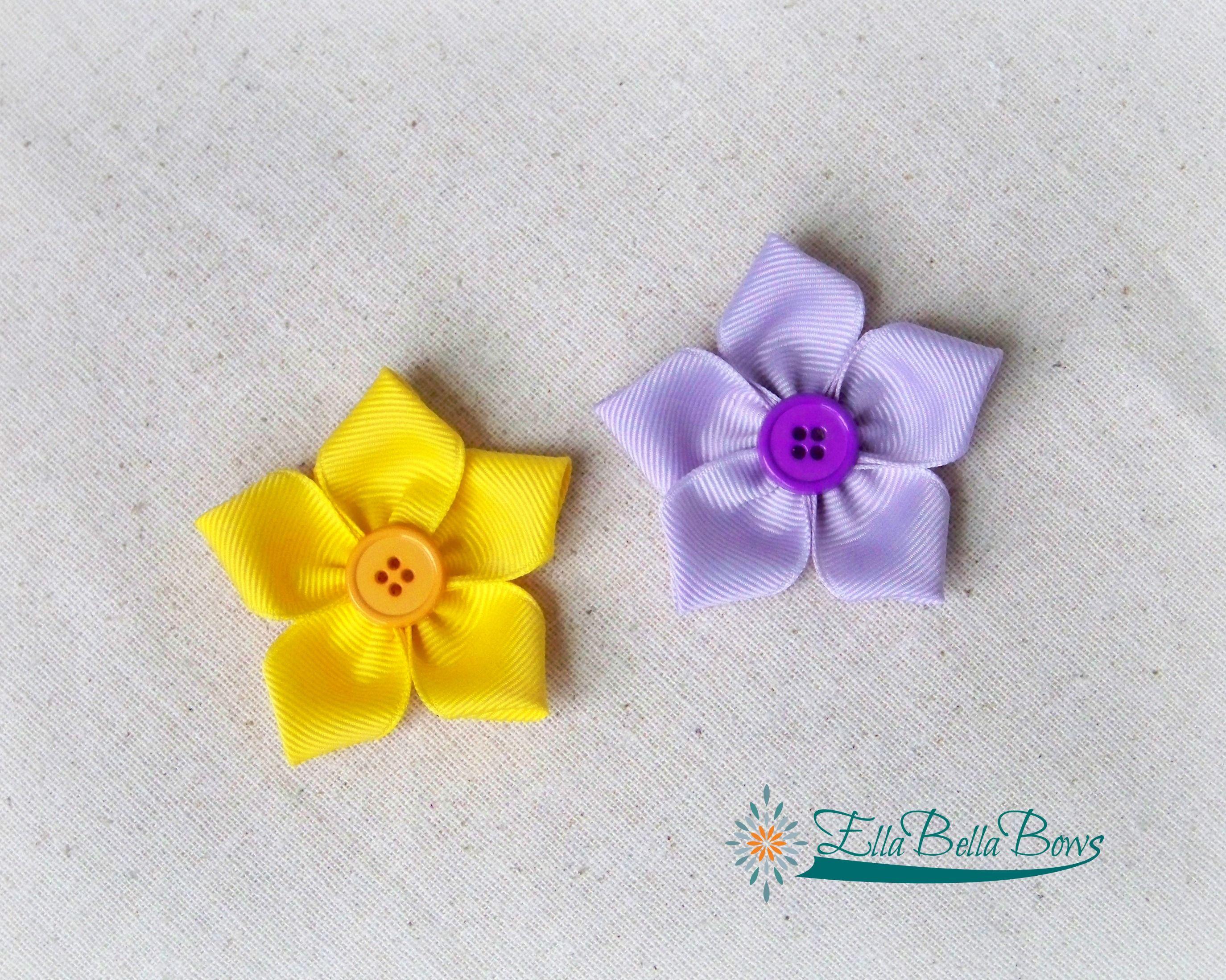 2d441527d8c Ribbon Starflower Hair Bows by Ella Bella Bows