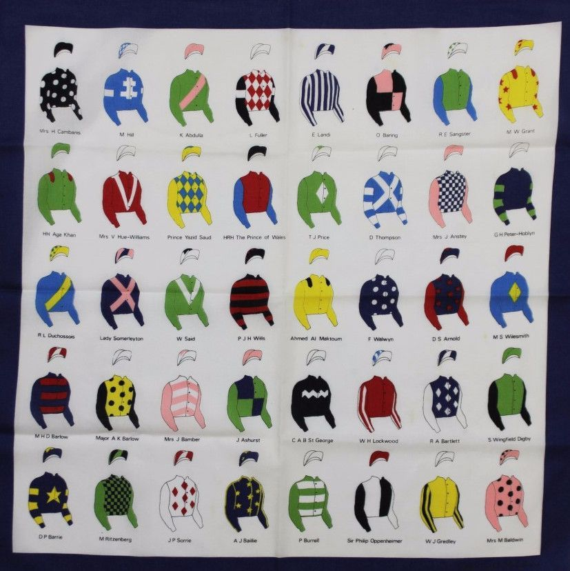 40 English Racing Colours Of Famous Owners Pocket Sq Kentucky Derby Party Decorations Derby Party Decorations Colours