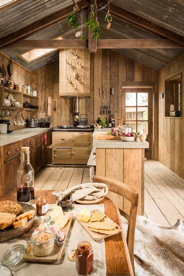 Small Cottage Interiors Cozy Home Office Cottage: Ultimate Rough-luxe Hideaway Cabin In Cornwall, UK