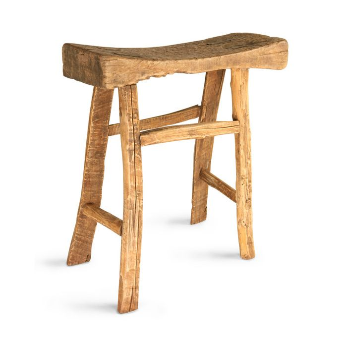 Royola Pacific Designs Wooden Old Curved Stool