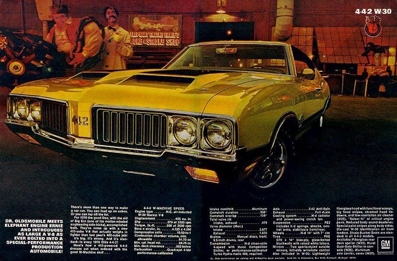 70 Olds 442 W-30 Ad with Dr  Olds!   Cars and motorcycles