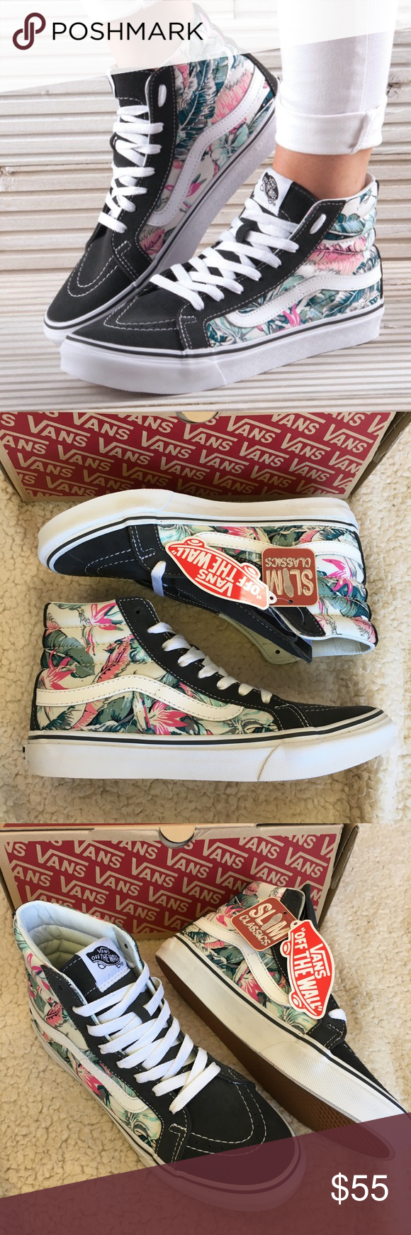 79260b7779 NWT Vans Sk8-Hi Slim Tropical Sneakers