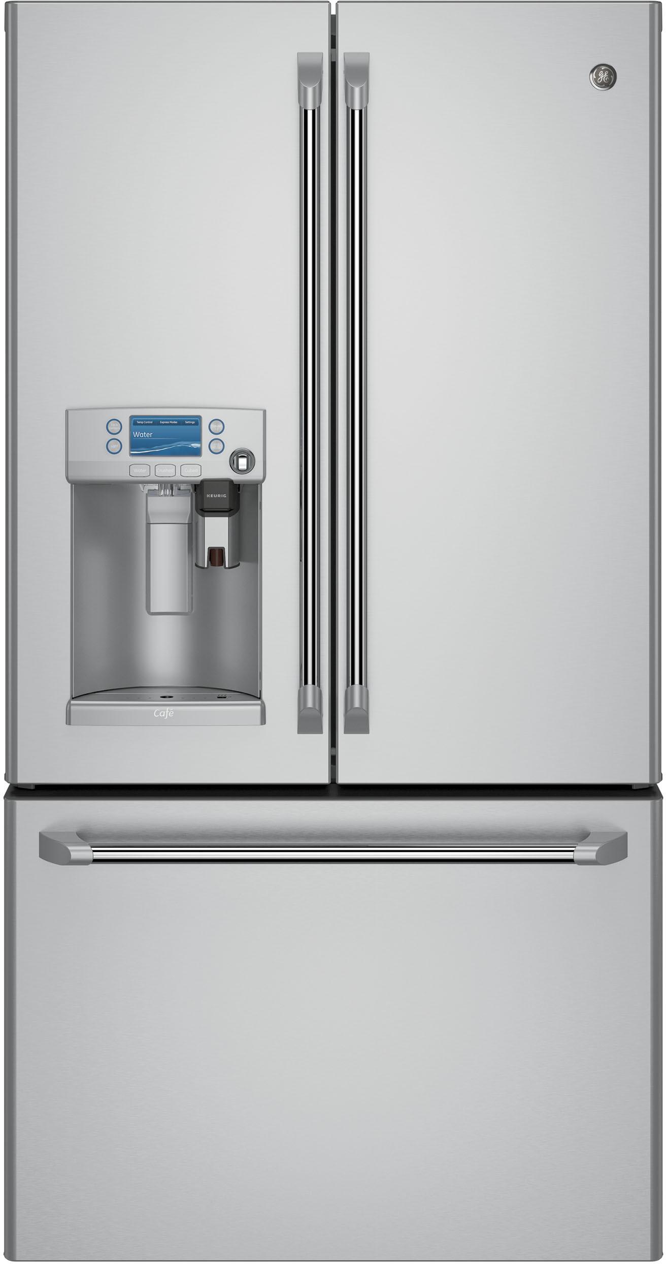 Cye22ushss Ge Keurig Refrigerator With K Cup Coffee Brewing Counter Depth French Door Refrigerator French Doors French Door Refrigerator