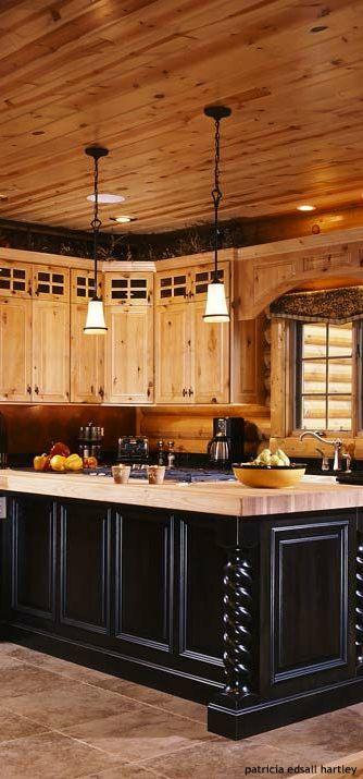 Log Cabins Floor Plans House Design Log Home Kitchens Log Homes Log Cabin Kitchens