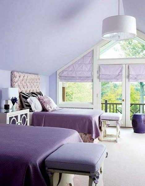 Popular Paint Color for Bedroom Trends 2021   Lilac interior bedroom trends 2021 in 2020 ...