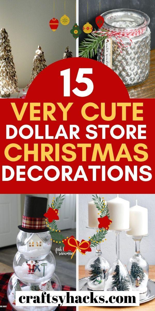 15 Beautiful Dollar Tree Christmas Decorations -   19 diy christmas decorations dollar store easy ideas