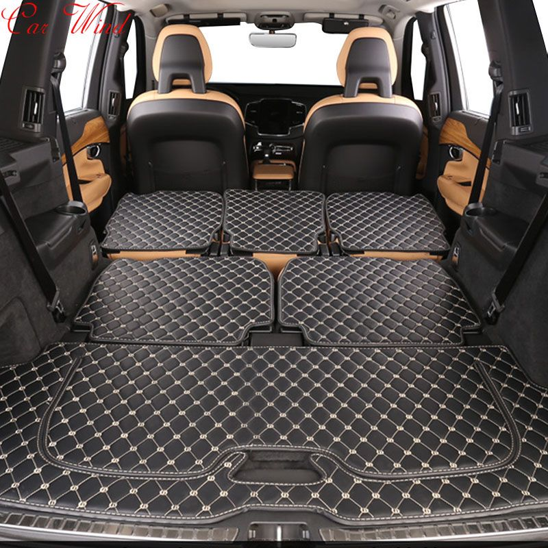 Car Wind Custom Car Trunk Mat For Volvo Xc90 S60 S80 Xc60 V60 V40 S90 S80 Floor Mats Cargo Liner Interior Accessories Carpet Volvo Xc90 Custom Cars Cargo Liner