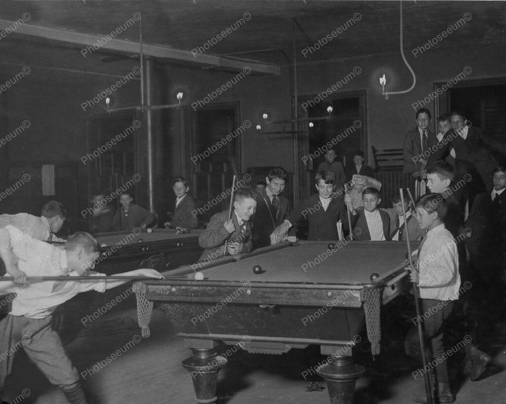 Pool Room in Boston 1930s 8x10 Reprint of Old Photo eBay