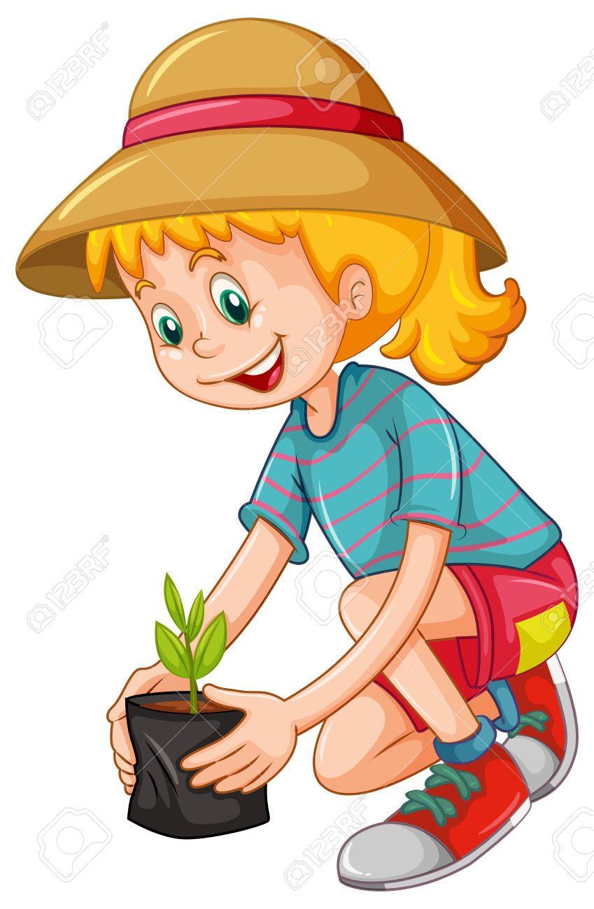 Resultado de imagen para dibujos ni os sembrando arboles for Arboles para plantar en verano