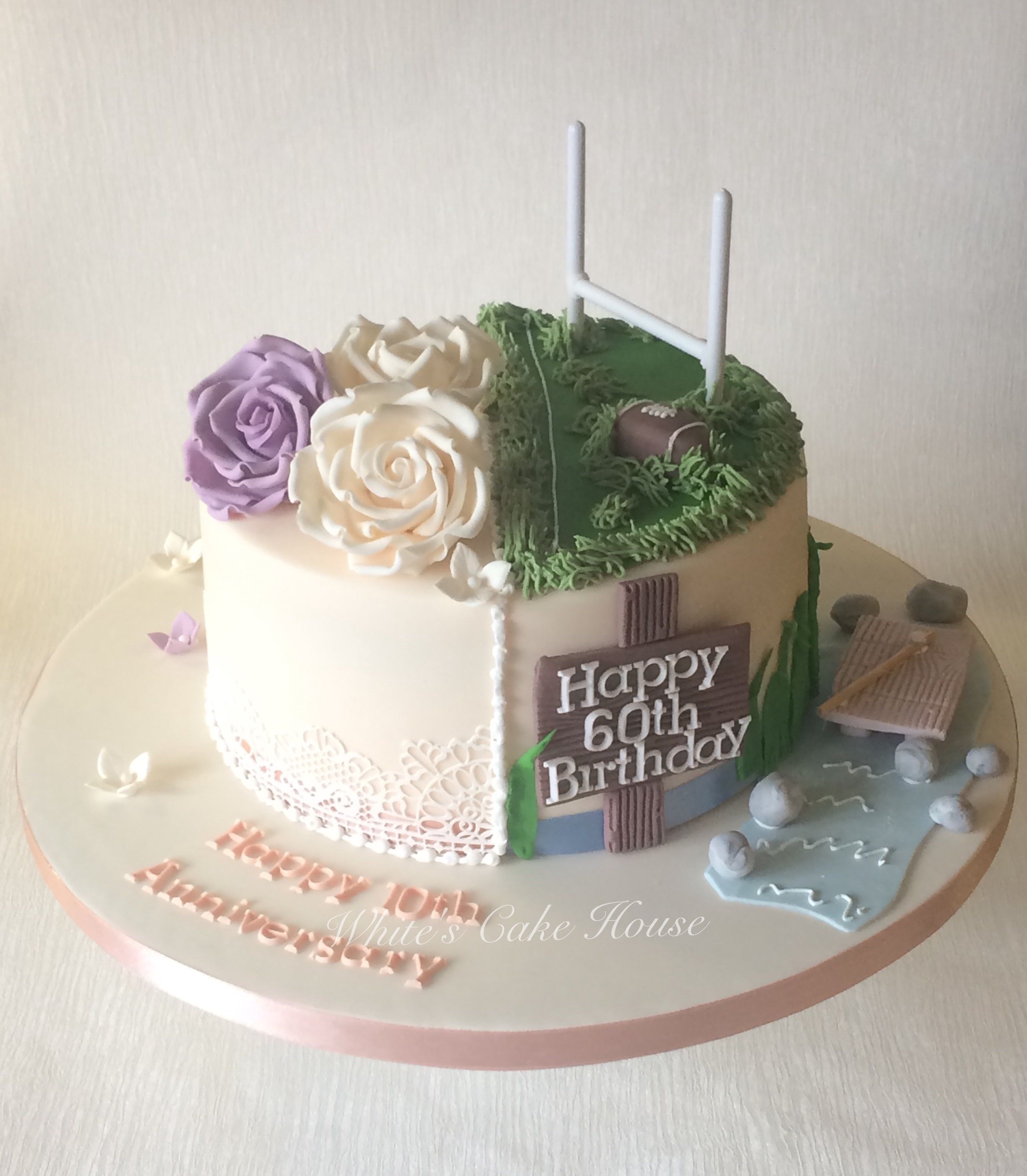 Half And Half Style Cake For Birthday And Anniversary Half