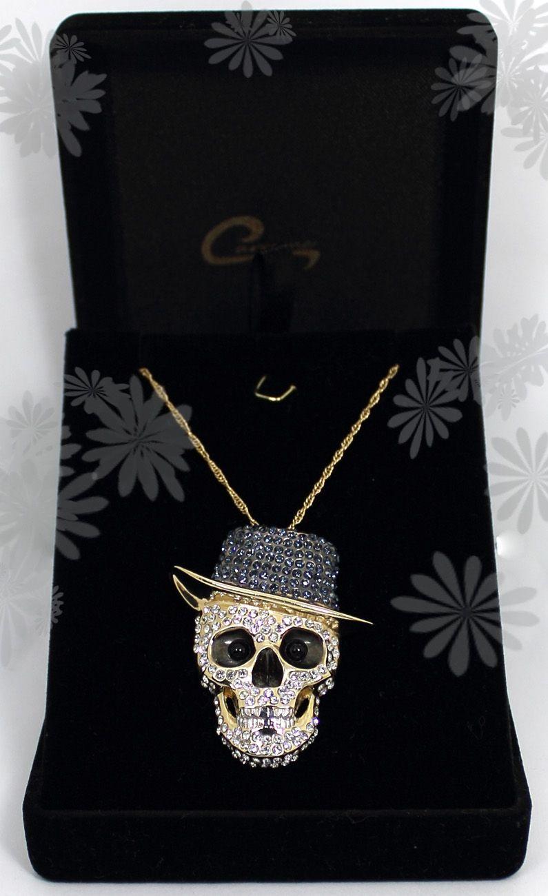 Pingente com corrente Joias Carmine - 10 camadas de ouro e aplique de rodio negro