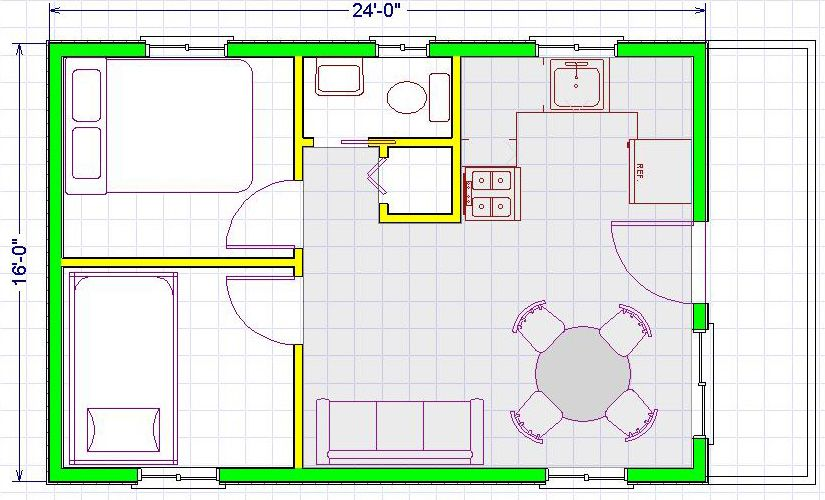 16x24 house plans - I need a large closet and storage space and a