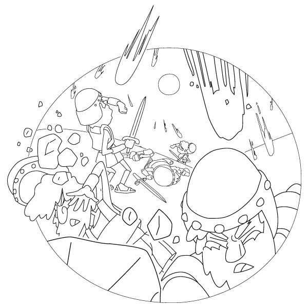 The Sun Stood Still Coloring Page