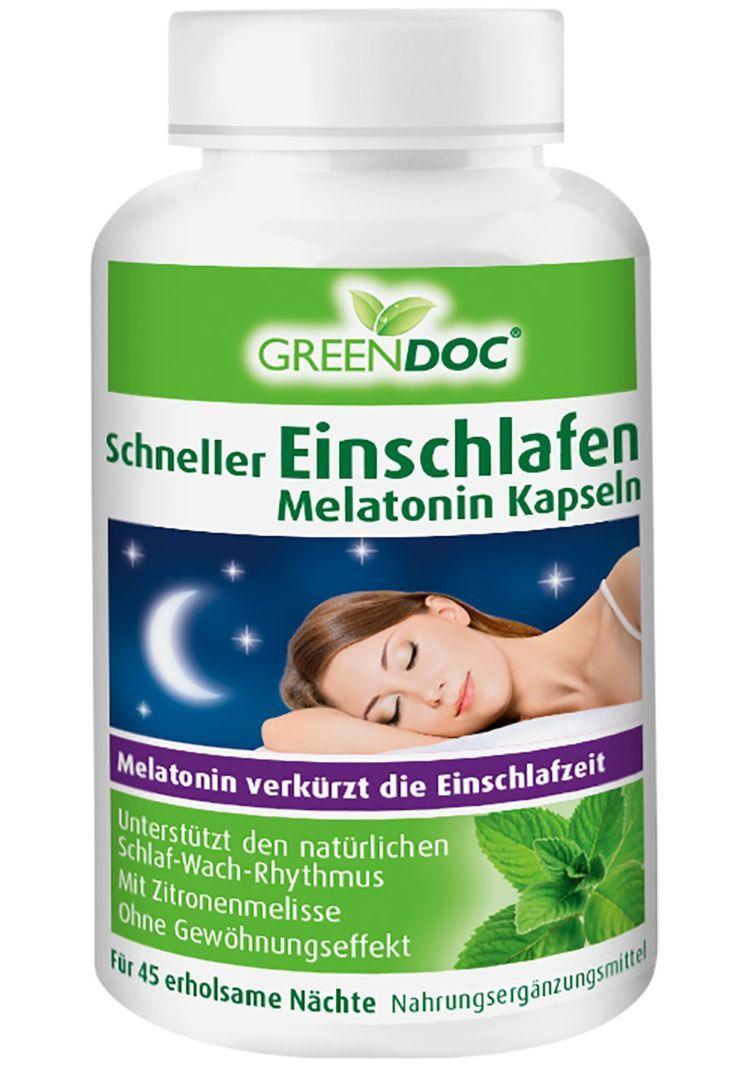 Greendoc Vorteilspack Schneller Einschlafen Melatonin Kapseln