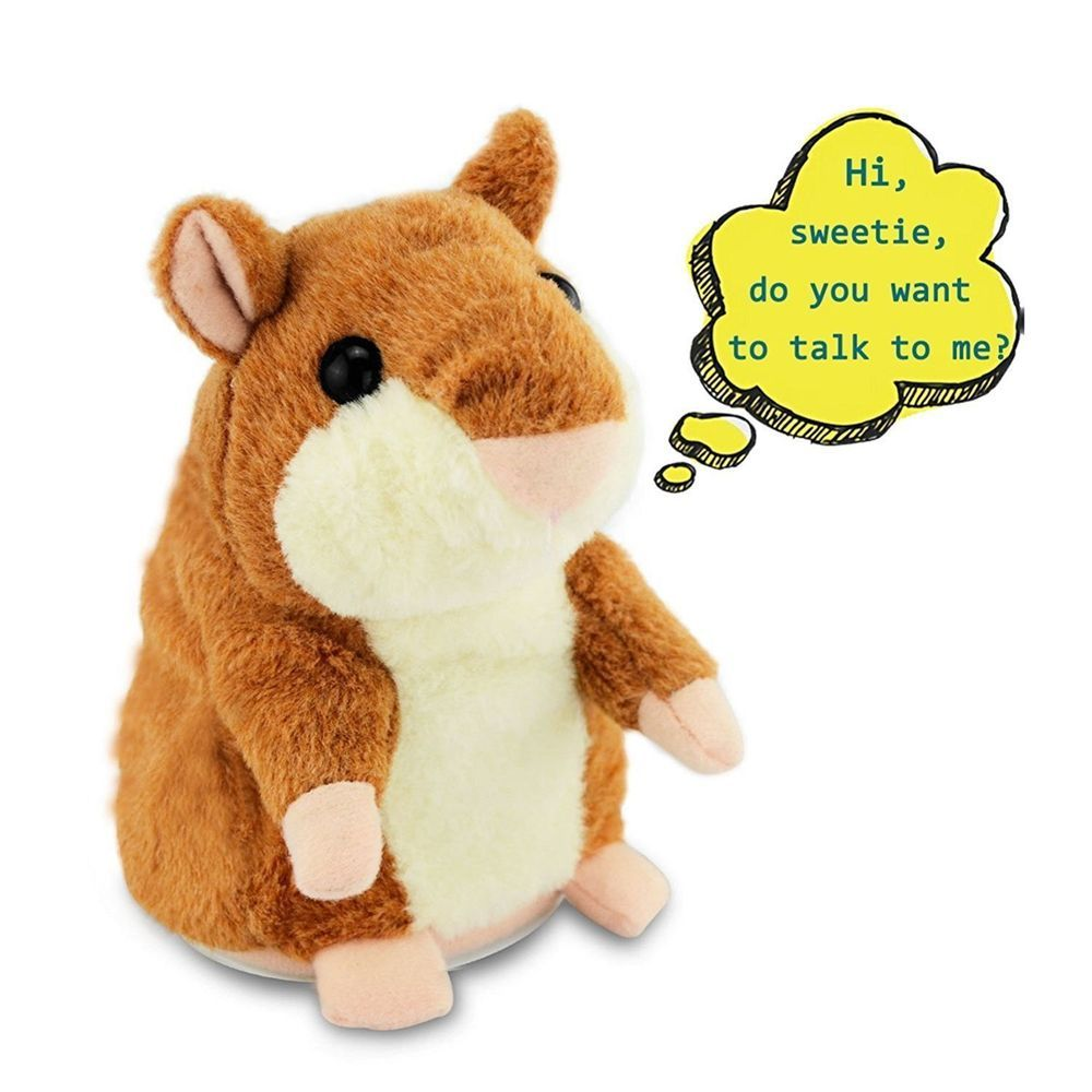 Talking Hamster Electronic Plush Toy Mouse Pet Sound Soft