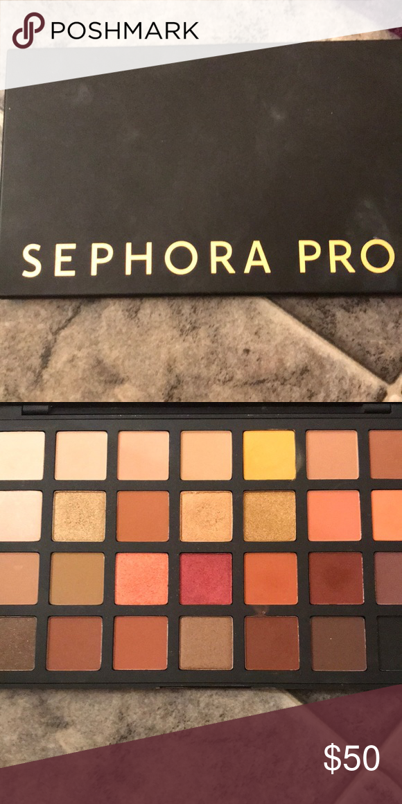 Sephora Pro Palette (warm) Swatched once, never used