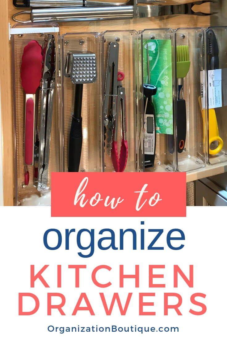 How to Organize Kitchen Drawers #organizekitchen
