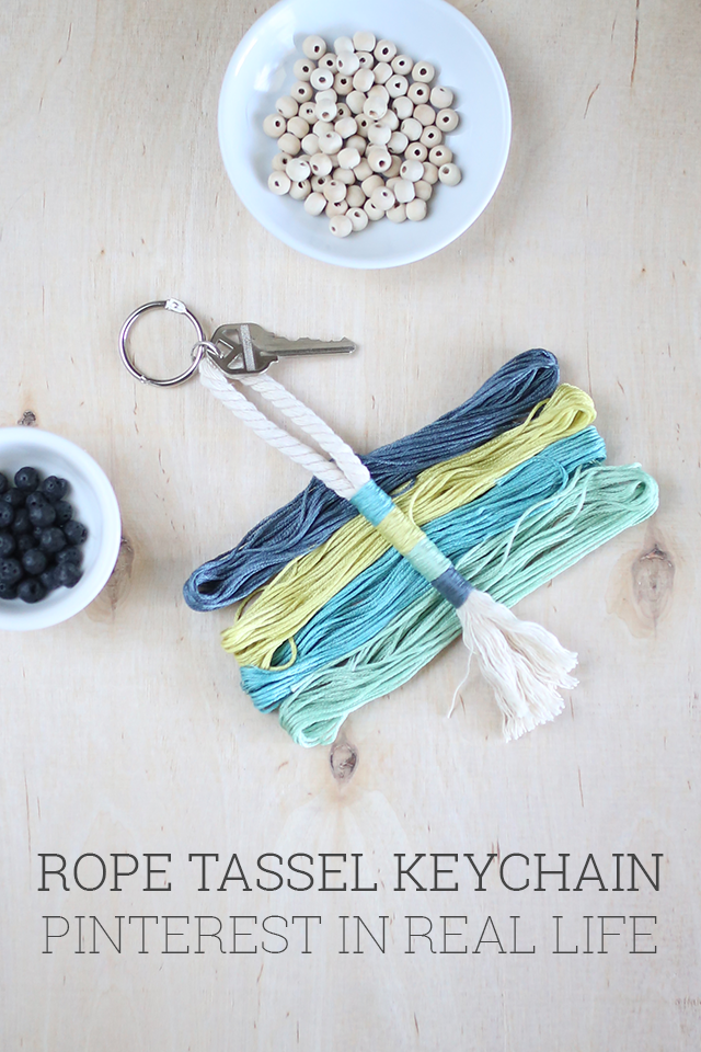 This DIY rope tassel keychain is so simple but so beautiful. And you'll be shocked at how easy it is to make using the tutorial from Alice & Lois!