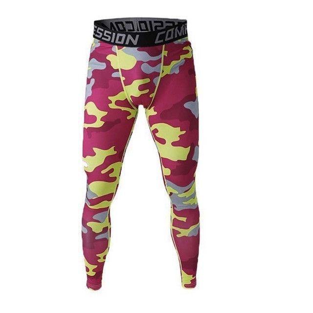 High-elastic Mens Compression Leggings Fitness Gym Sports   Pants NEW