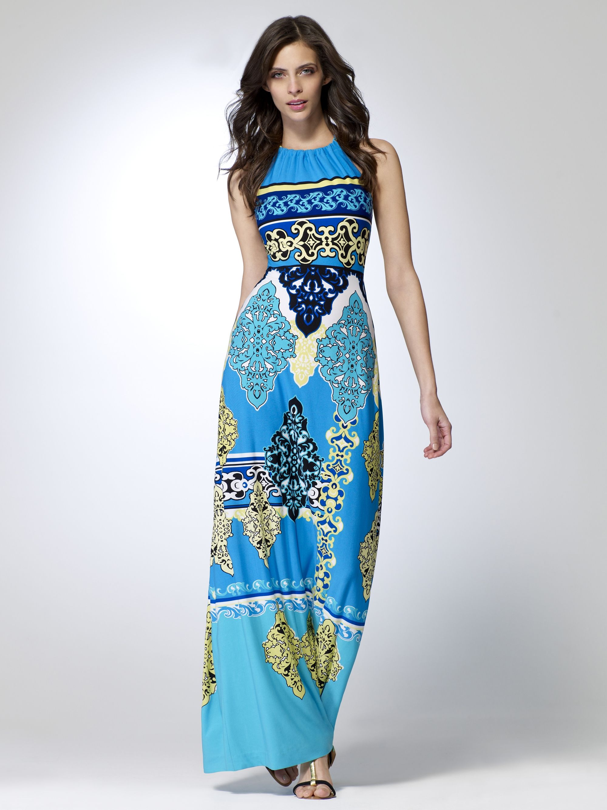 ee2d3eac2d42ca Cache - Ibiza Border Print Maxi Dress