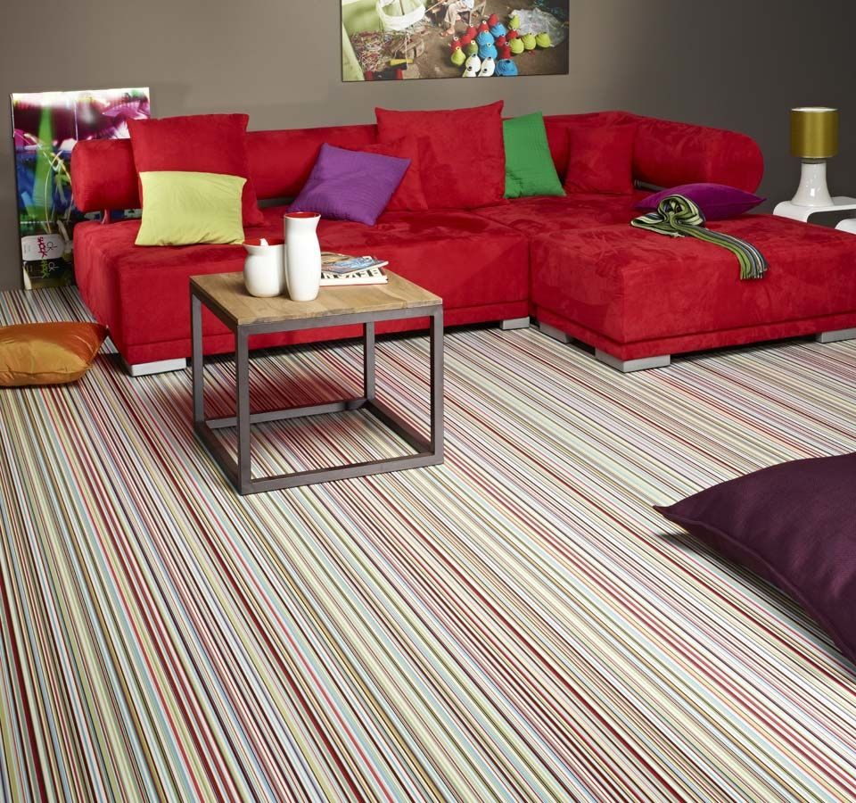 Stripes Bright Sheet Vinyl Flooring Vinyl flooring