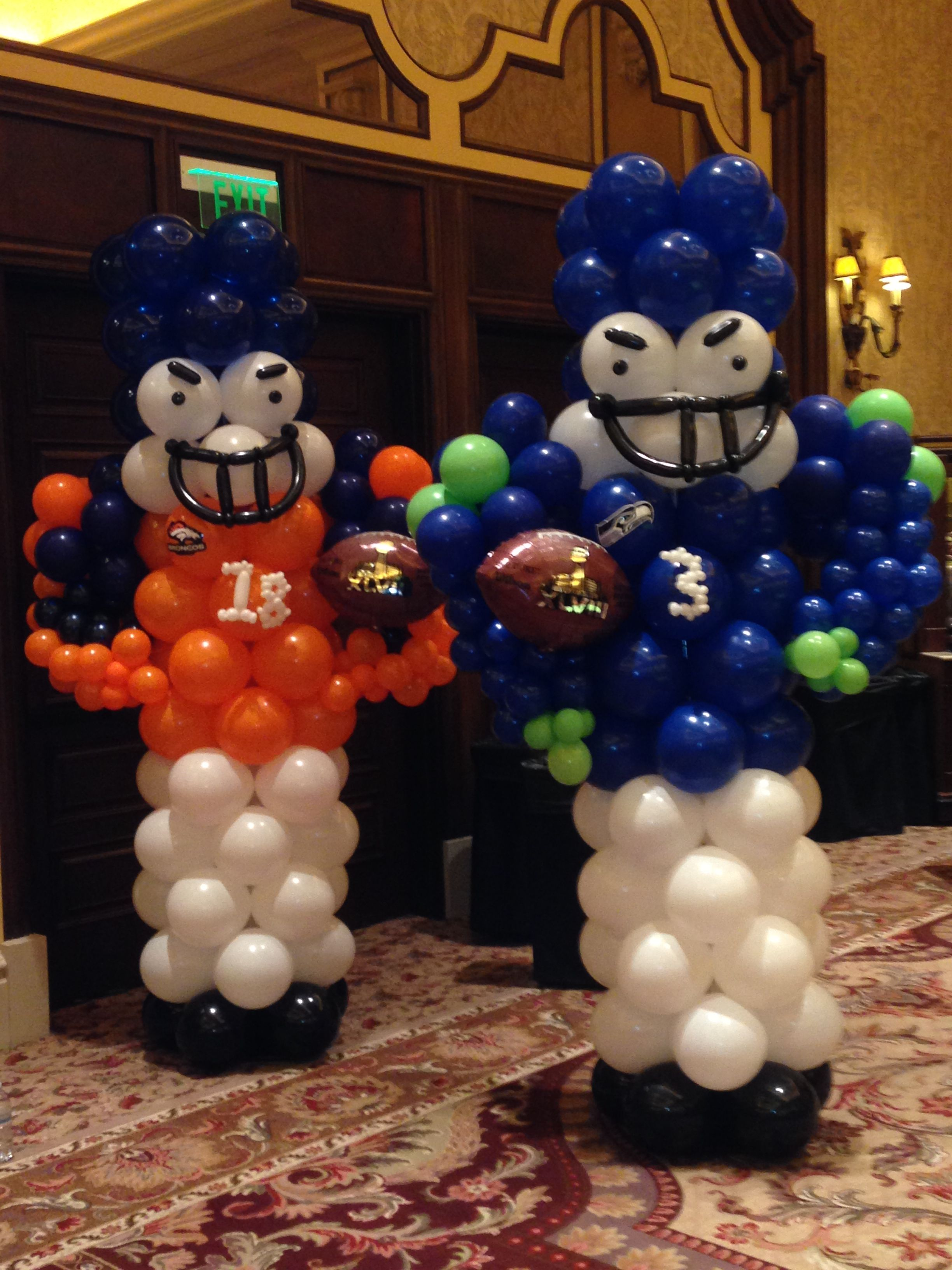 Super Bowl Football Players 2014 Balloon Sculptures Created By Sin City Balloons Las Vegas