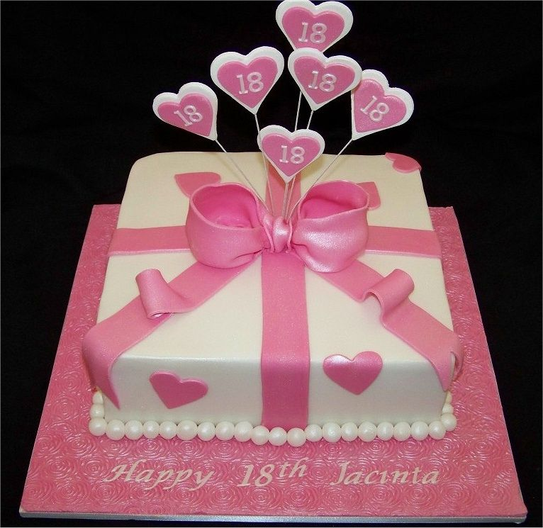 18th birthday cakes for girls present cake made for for 18th birthday cake decoration ideas