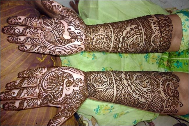 Mehndi Full Hand Bridal Design : Full hands peacock mehndi designs for brides fashion
