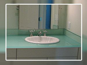 Glass Bathroom Vanity Tops glass vanity tops make a lovely addition to a bathroom and if you