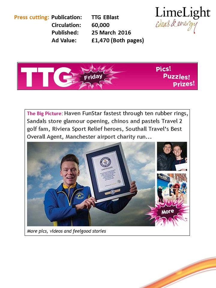 In it to ring it - TTG EBlast - 25 March