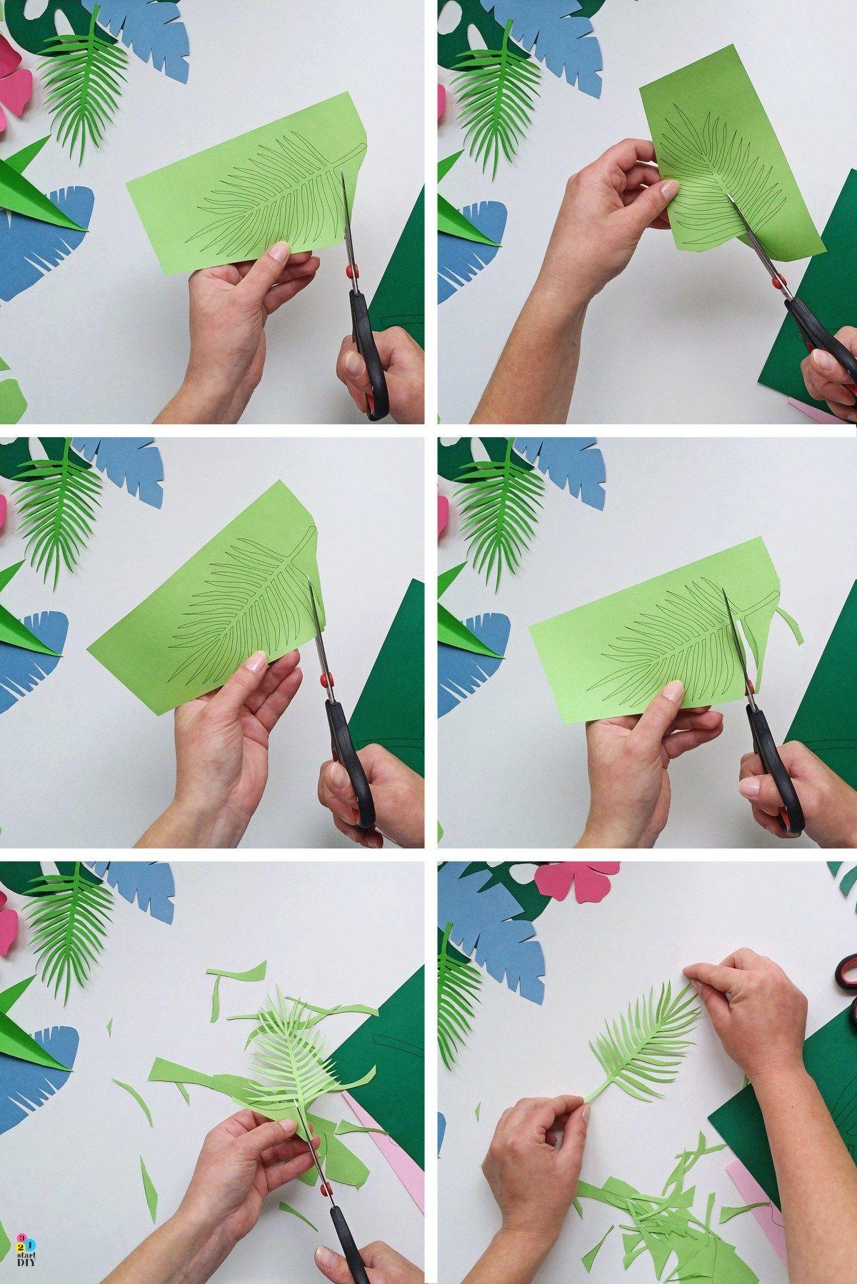 Tropikalne Liscie Szablony Do Wycinania Cards Tropical Playing Cards
