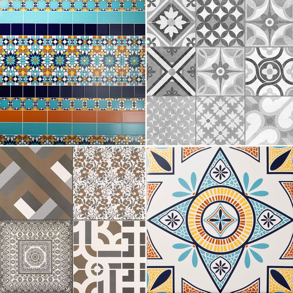 Why not mix two styles together? Moroccan designs are full with striking geometric shapes complimented with monotone hues or vibrant exotic colours!