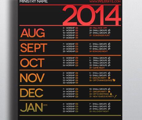 Church Calendar Calendar Design Calendar Email Design
