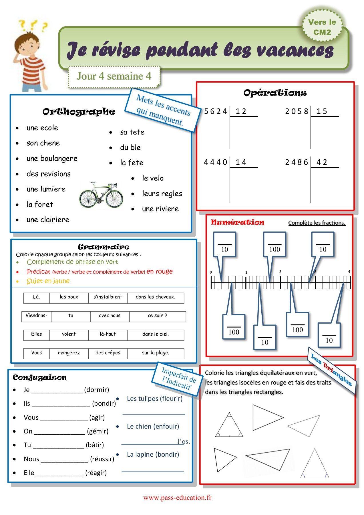 Cahier De Vacances Gratuit A Imprimer Cm1 Vers Le Cm2 Juillet Cahier De Vacances Gratuit Cahier De Vacances Exercice Math Cm1