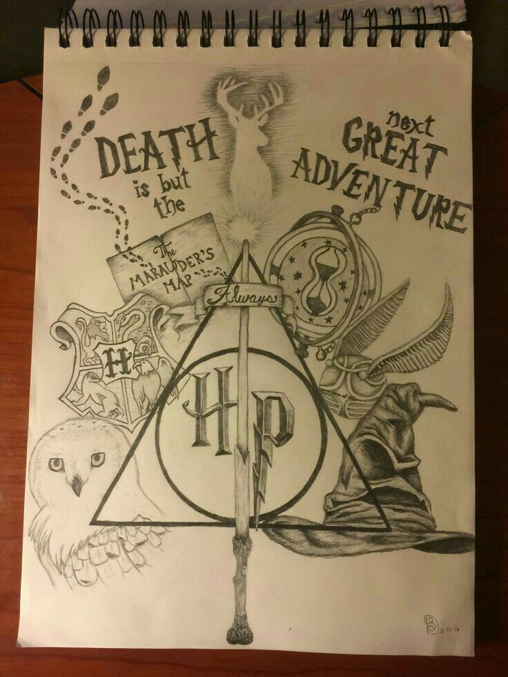 Awesome harry potter drawing fandoms and fangirling dessin harry potter tatouages harry - Harry potter dessin ...