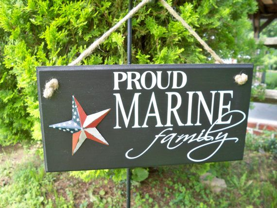 Proud Marine Family Handmade Painted Sign by SimplySaidSayings