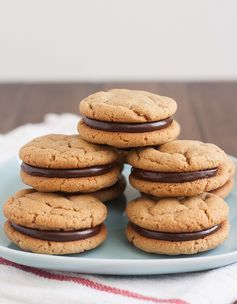 Peanut Butter and Chocolate Sandwich Cookies by @Tracey Fox Fox Fox Wilhelmsen (Tracey's Culinary Adventures)