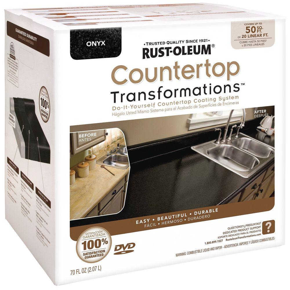 Rust Oleum Transformations 70 Oz Onyx Large Countertop Kit 258284