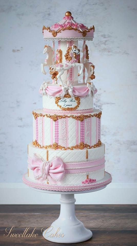 Tiered Carousel Cake