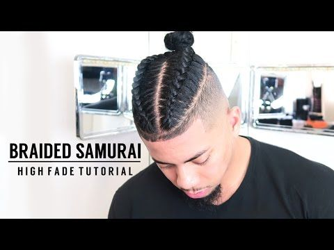 How To Fade Your Own Hair Man Bun Braided Samurai Top Knot