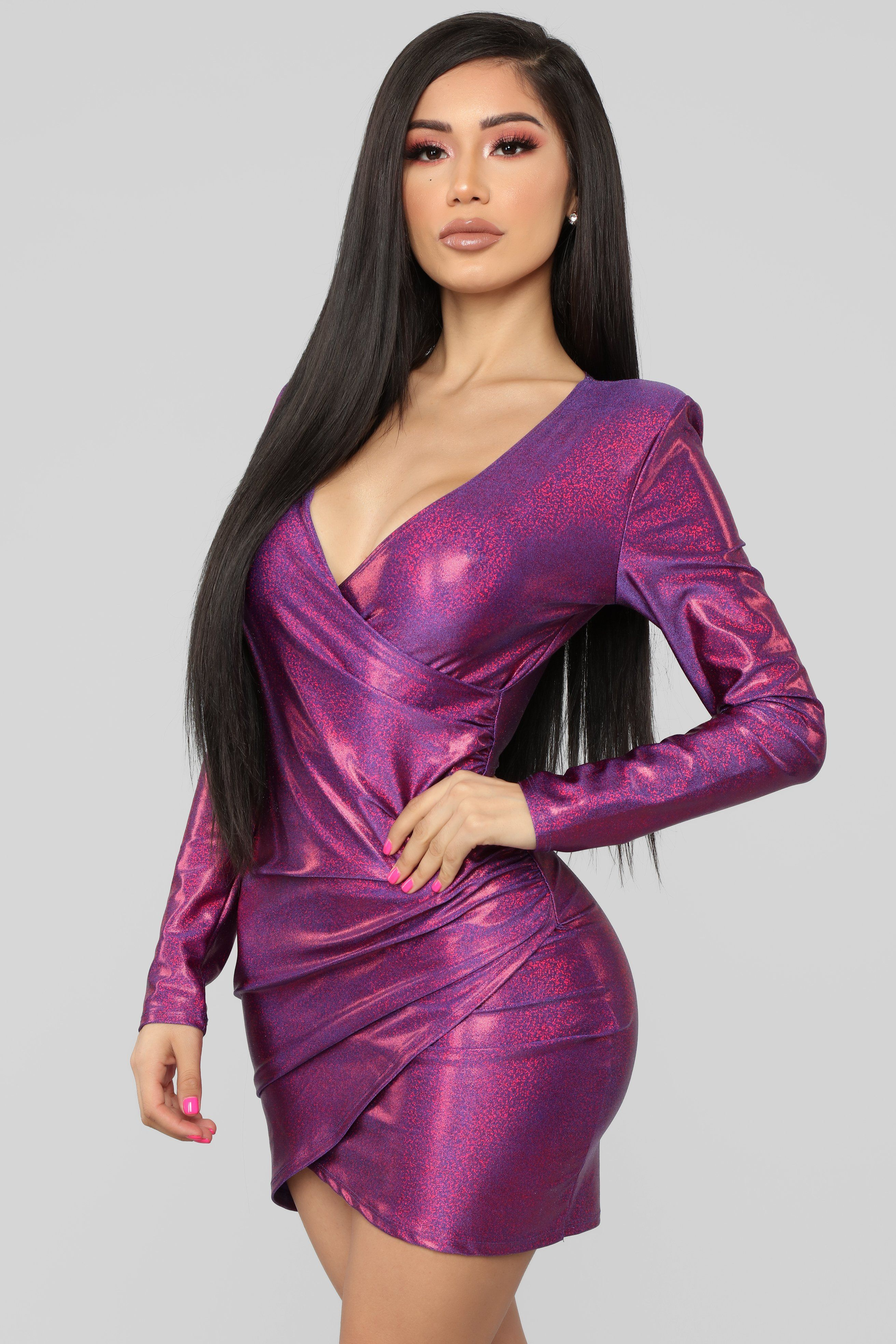 Brighten My Life Holographic Dress (With