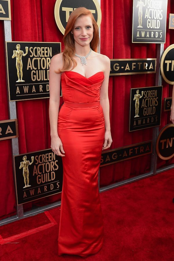 sag awards 2013 – top 4 looks Jessica Chastain