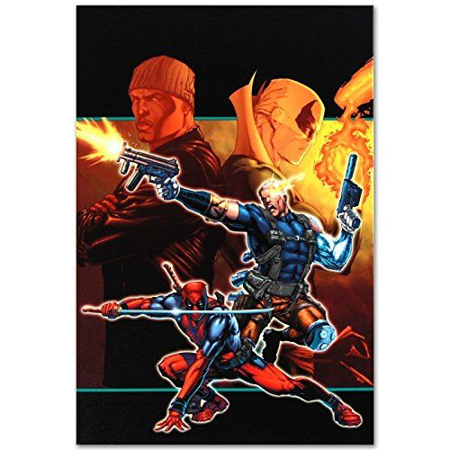 Cable & Deadpool #21 Limited Edition Giclee on Canvas by Patrick Zircher and Marvel Comics Numbered @ niftywarehouse.com #NiftyWarehouse #IronMan #Iron-man #Marvel #Avengers #TheAvengers #ComicBooks #Movies