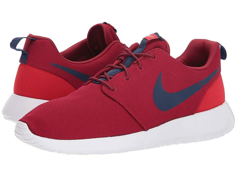 2d15458d1f05 Nike Roshe One (Red Crush Midnight Navy University Red) Men s Classic Shoes.  The name may say run but don t get it twisted!